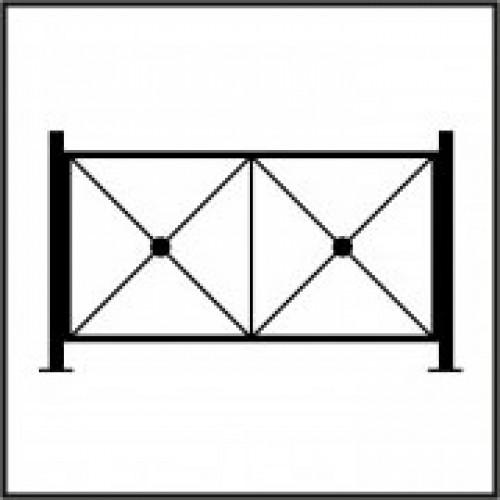 """Секция пешеходного ограждения ПО-1 """"КРЕСТ"""" тип-2"""