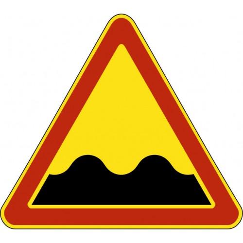 Временный предупреждающий Дорожный знак 1.16 - Неровная дорога