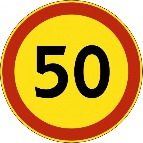 Временный дорожный знак 3.24 - Ограничение максимальной скорости
