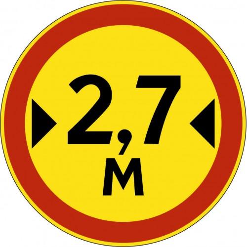 Временный дорожный знак 3.14 - Ограничение ширины