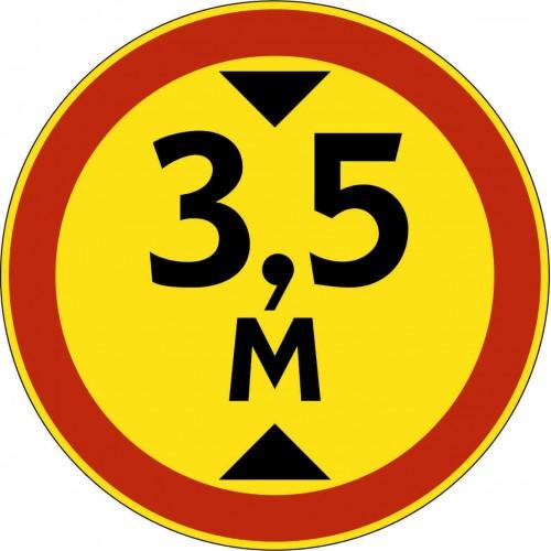 Временный дорожный знак 3.13 - Ограничение высоты