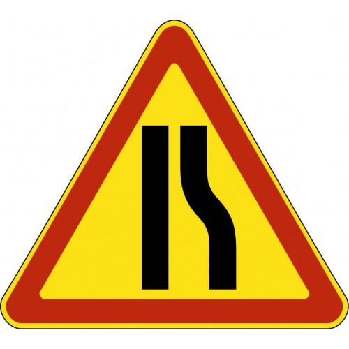 Временный предупреждающий Дорожный знак 1.20.2 - Сужение дороги справа
