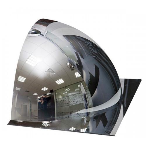 Зеркало 1/2 купольного полусферического зеркала DL 600 мм с внешним напылением, без канта