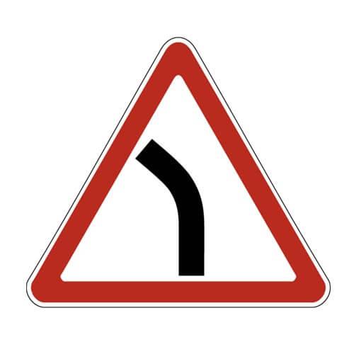 Дорожный знак 1.11.2 - Опасный поворот - налево