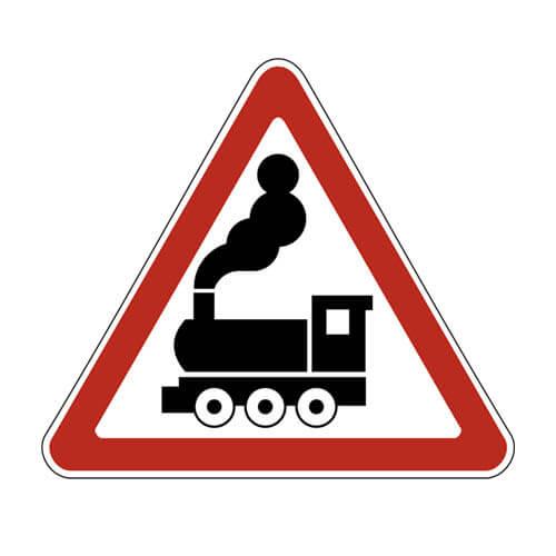 Дорожный знак 1.2 - Железнодорожный переезд без шлагбаума