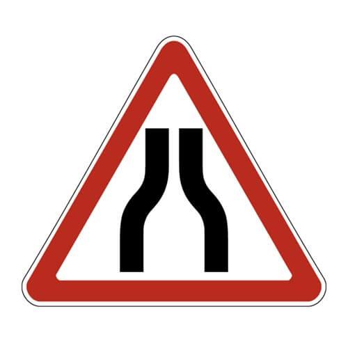 Дорожный знак 1.20.1 - Сужение дороги с обеих сторон