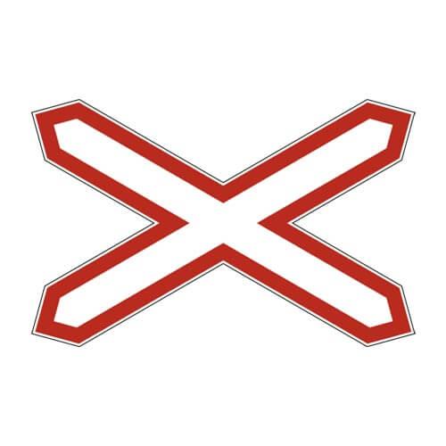 Дорожный знак 1.3.1 - Однопутная железная дорога