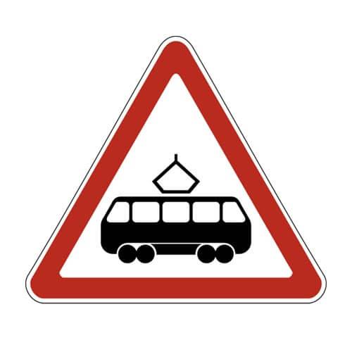 Дорожный знак 1.5 - Пересечение с трамвайной линией