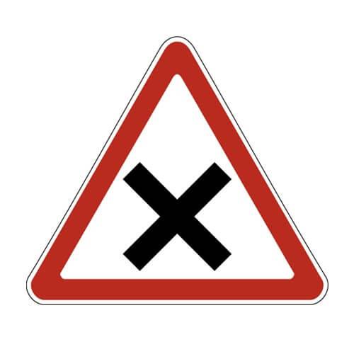 Дорожный знак 1.6 - Пересечение равнозначных дорог