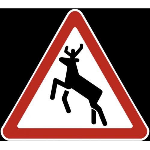 Дорожный знак 1.27 - Дикие животные