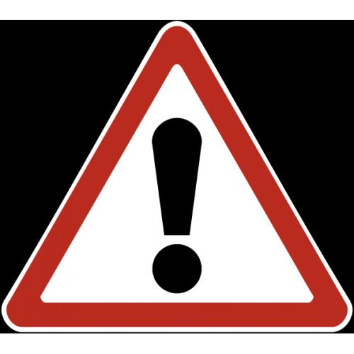 Дорожный знак 1.33 - Прочие опасности