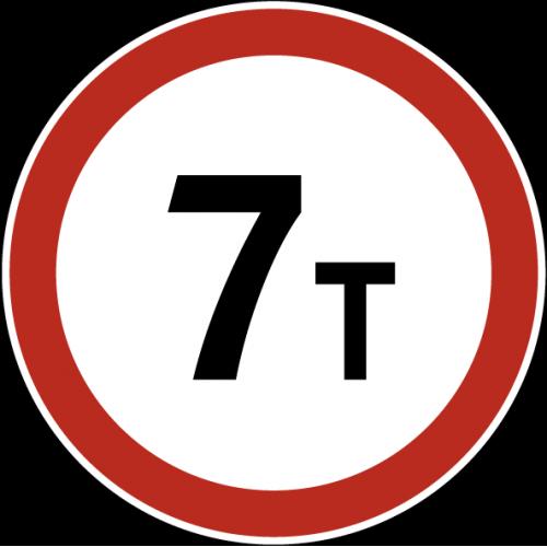 Дорожный знак 3.11 - Ограничение массы