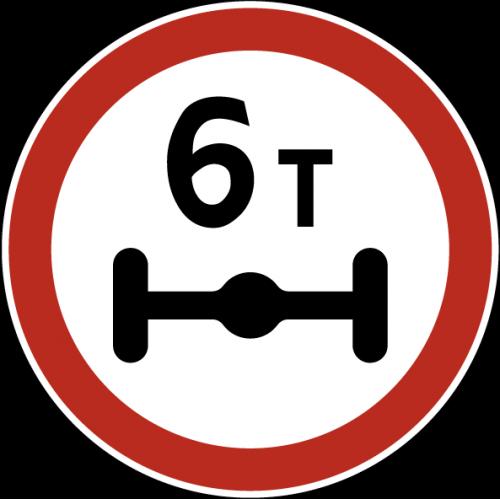 Дорожный знак 3.12 - Ограничение массы, приходящейся на ось транспортного средства