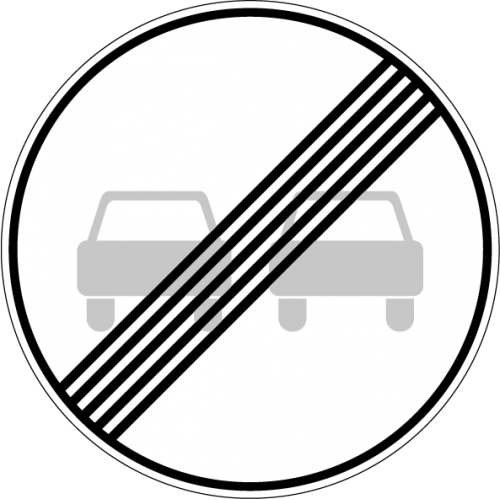 Дорожный знак 3.21 - Конец зоны запрещения обгона