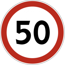 Дорожный знак 3.24 - Ограничение максимальной скорости