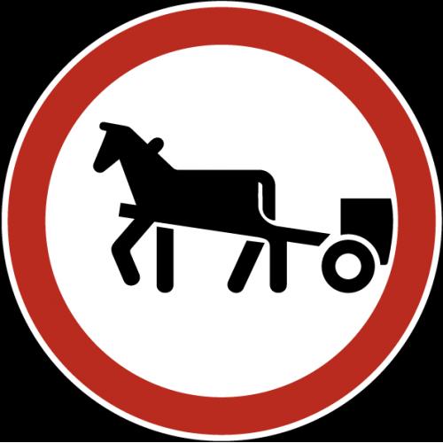 Дорожный знак 3.8 - Движение гужевых повозок запрещено