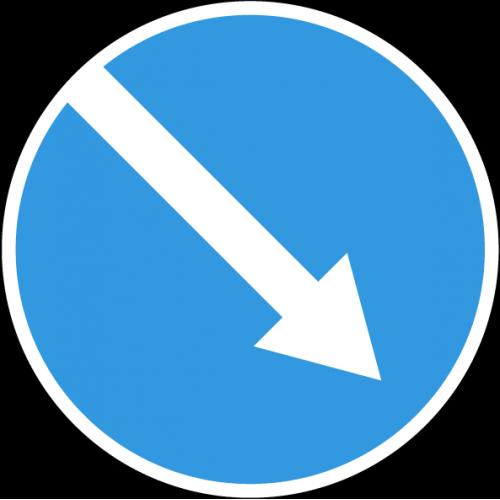 Дорожный знак 4.2.1 - Объезд препятствия справа
