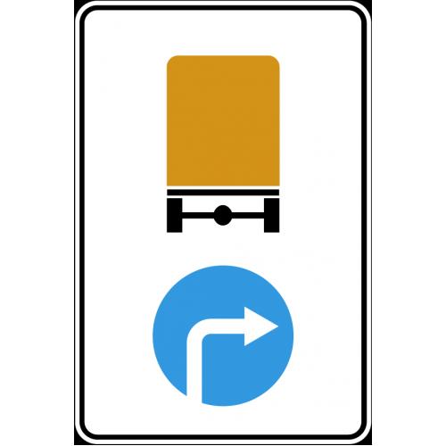 Дорожный знак 4.8.3 - Направление движения транспортных средств с опасными грузами направо