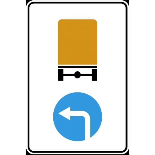 Дорожный знак 4.8.1 - Направление движения транспортных средств с опасными грузами налево
