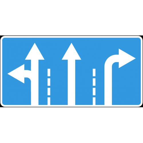 Дорожный знак 5.15.1 - Направления движения по полосам