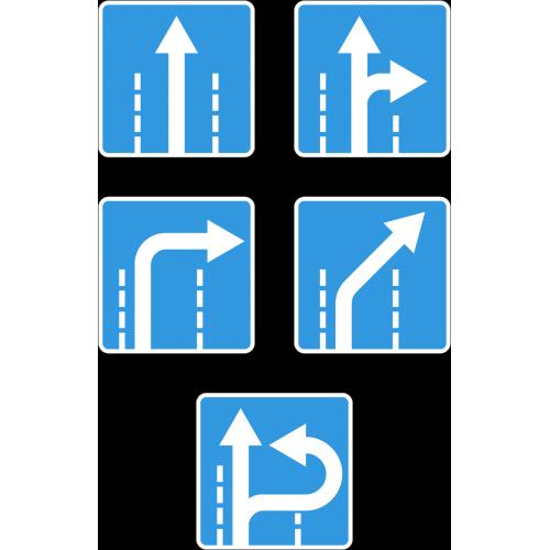 Дорожный знак 5.15.2 - Направления движения по полосе