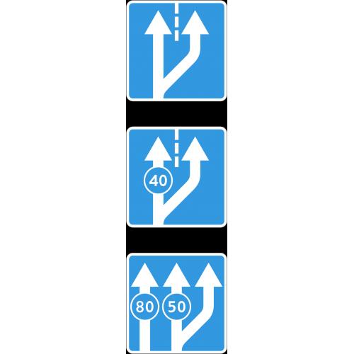 Дорожный знак 5.15.3 - Начало полосы
