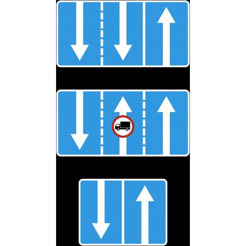 Дорожный знак 5.15.7 - Направление движения по полосам