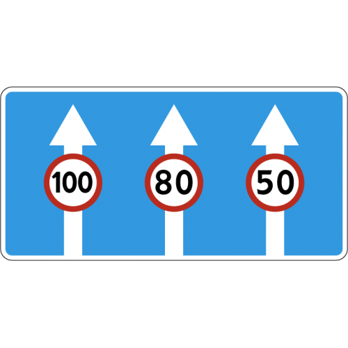 Дорожный знак 5.15.8 - Число полос