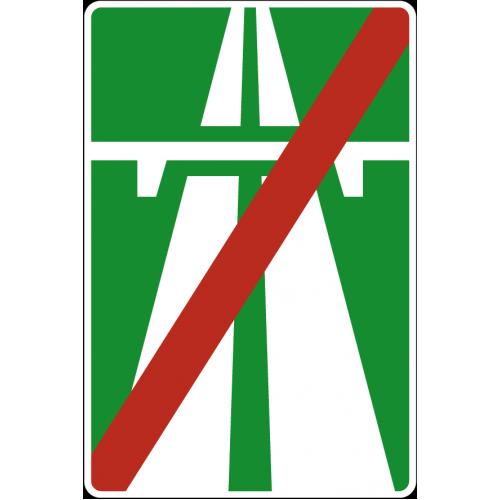Дорожный знак 5.2 - Конец автомагистрали