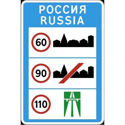 Дорожный знак 6.1 - Общие ограничения максимальной скорости