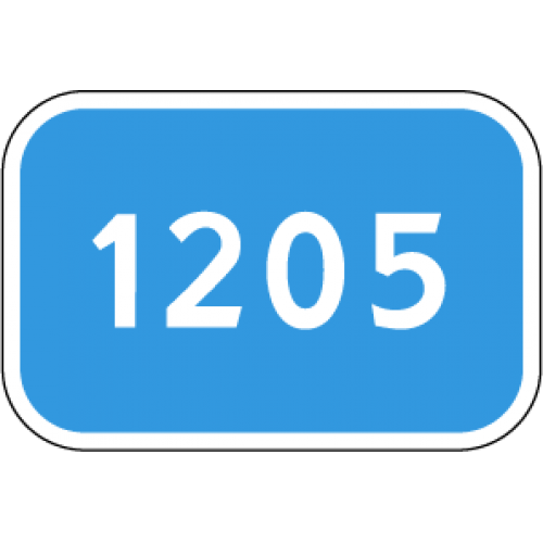 Дорожный знак 6.13 - Километровый знак