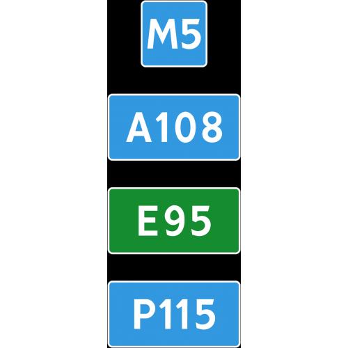 Дорожный знак 6.14.1 - Номер маршрута
