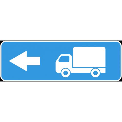 Дорожный знак 6.15.3 - Направление движения для грузовых автомобилей