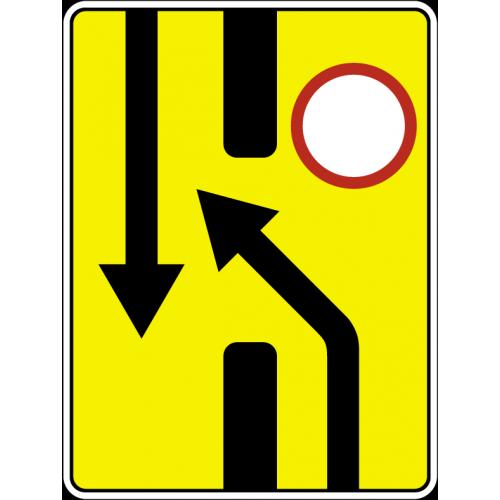 Дорожный знак 6.19.1 - Предварительный указатель перестроения на другую проезжую часть