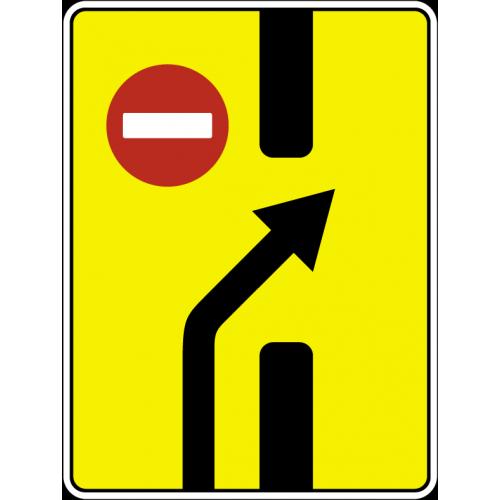 Дорожный знак 6.19.2 - Предварительный указатель перестроения на другую проезжую часть