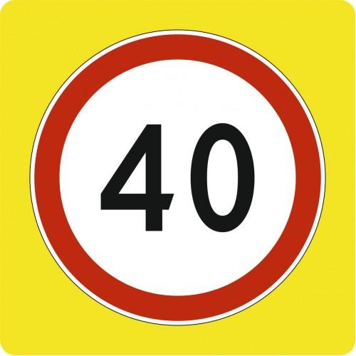 Дорожный знак 3.24 -Ограничение скорости на флуоресцентном фоне