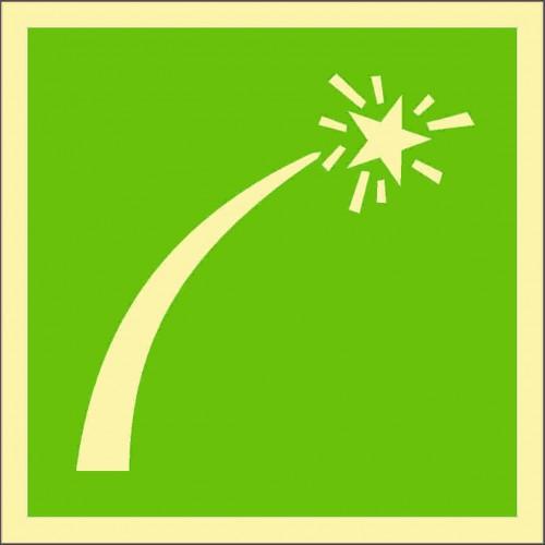 Знак ИМО Спасательная ракета бедствия спасательного средства