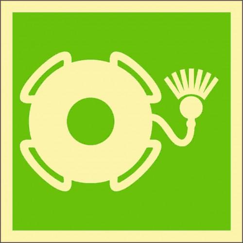 Знак ИМО Спасательный круг с огнем
