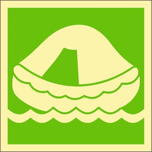 Знак ИМО Спасательный плот
