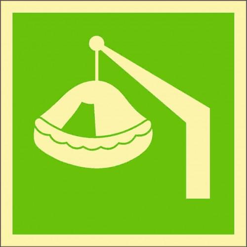 Знак ИМО Спасательный плот спускаемого типа